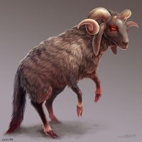 Demon Sheep by Landylachs