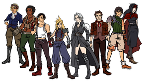 Final Fantasy VII Genderswap by Belderiver