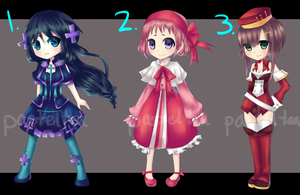 ADOPTABLES set I [2/3 OPEN] by pasteltea