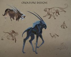 Creature Designs by Terra-fen
