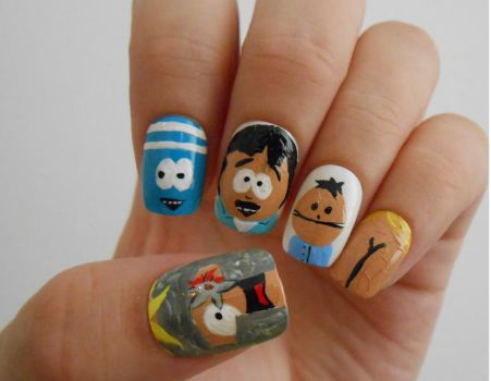 South Park nails by henzy89