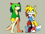 Tails and Cosmo: Gender Bender. by Cheroy