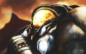 Starcraft - Jim Raynor by Daviash