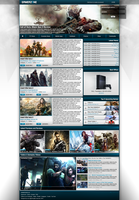 GAMERZONE webdesign by exxor89