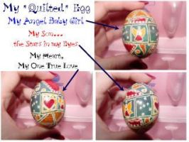 Quilted Egg by MissMinda