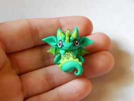Turquoise and Green Dragon Charm by XDtheBEASTXD