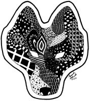 Zentangle Wolf by fallowsingerwolf