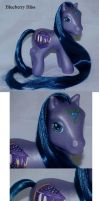 Blueberry Bliss custom pony by Woosie