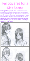 Ten squares for a kiss scene by Tamakichi