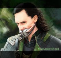 Be quiet, Loki by Anixien