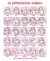 25 Expressions - Andrea by alex-heberling