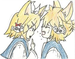 Neko Rin and Len by VocaloidRinxLen