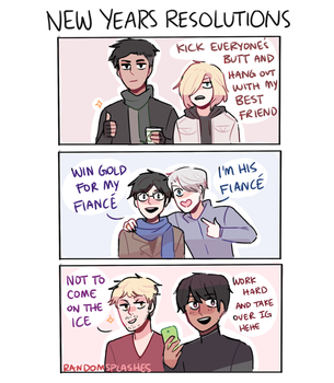 YOI: NEW YEARS RESOLUTIONS by Randomsplashes