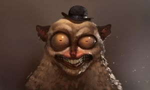 The Hat tarsier by Zedig