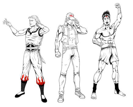 Fatal Fury Team Inks by Omegaprimus