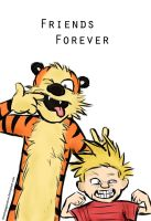 Calvin and Hobbes: Friends Forever by ThisNinjaGoesMoo