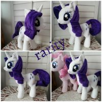 My Little Pony Rarity Plushie by CINNAMON-STITCH