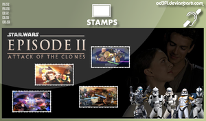 Stamps - 2002 - Star Wars Episode 2 Attack Of The  by od3f1