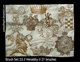Brush Set 23 - Heraldry by punksafetypin