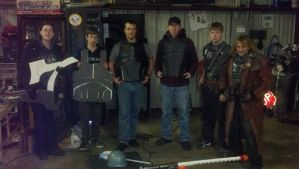 Fallout TX rangers armor party by drnightshade
