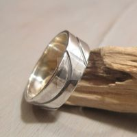 waves -ring in sterling silver by Jealousydesign