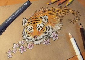 Illusion of a tiger - CHARITABLE AUCTION by AlviaAlcedo