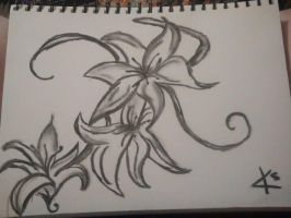 flower charcoal by twiztidkelso3