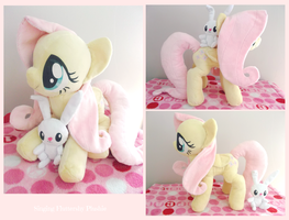 :: Singing Fluttershy Plushie :: by Fallenpeach