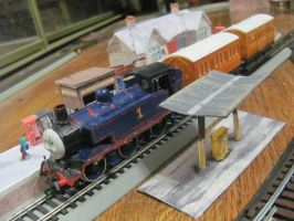 Thomas Annie Clarabel ready to leave - front by ZeldaTheSwordsman