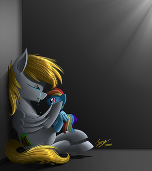 Dashie... please help me (Commission) by Duskie-06