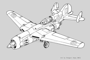 Rocket fighter by GTDees