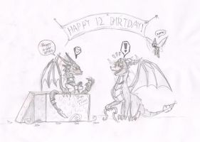 Happy 12 birthday Spyro by metalfoxxx