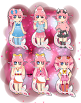 Pinky's Outfits (Contest Entry) by Quiet-Retribution