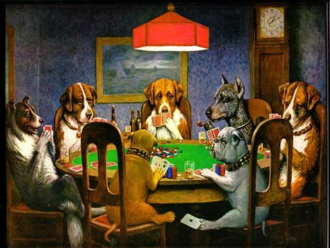 Poker Dogs by poochy1