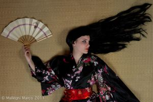 The art of a geisha shooting by LadyLessienFelagund