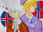 Iceland and Norway APH by KohakuFox