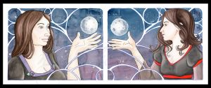 Moon on a String by nightkidlaura