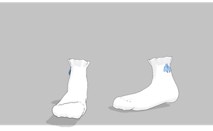 MMD Short ruffled sockswith small bow by amiamy111