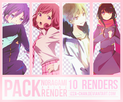 || PACK || 10 Renders Anime: Noragami|| by Izza-chan