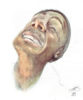self-portrait, watercolor 2 by ginrayluss