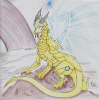 Ark'Ver The Golden dragon by Dragon-Wish
