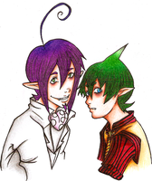Amaimon and Mephisto by TNBC-Fan
