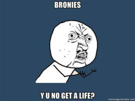 Bronies Y U NO Meme by htfman114