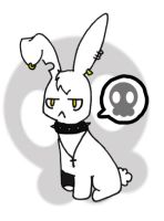 Gothic bunny by Currykat