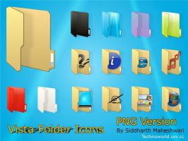Vista Folder Icon Pack png ver by SiddharthMaheshwari
