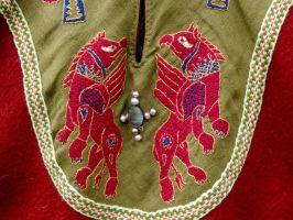 Griffins Byzantine Embroidery (detail) by Tournevent