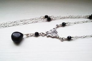 Victorian Black Onyx Necklace~ by QuintessentialArts