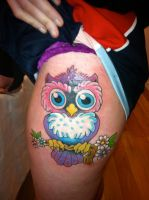 Owl tattoo by jayblum