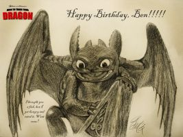 Birthday Gift: Toothless by JeffrettaLyn