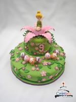 Tinkerbell Cake by The-Nonexistent